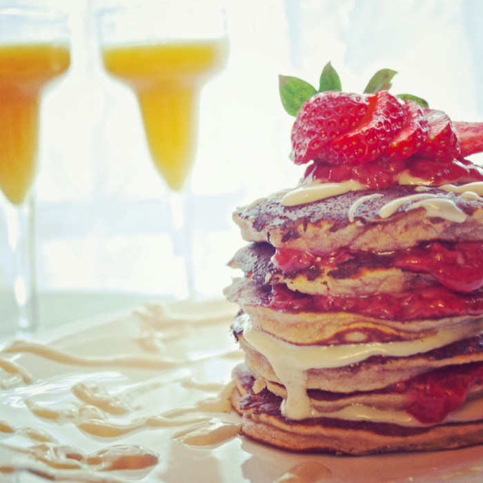 Strawberry Cream Cheese Pancake Stack Recipe