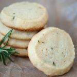 Paleo shortbread rosemary cookies