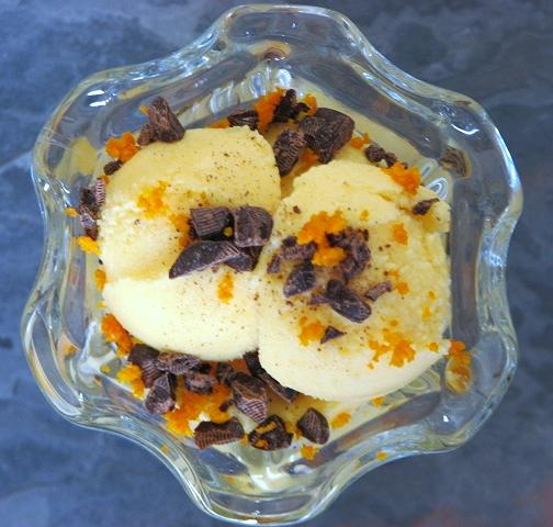 Primal Family Eats Mandarin Orange Sherbet