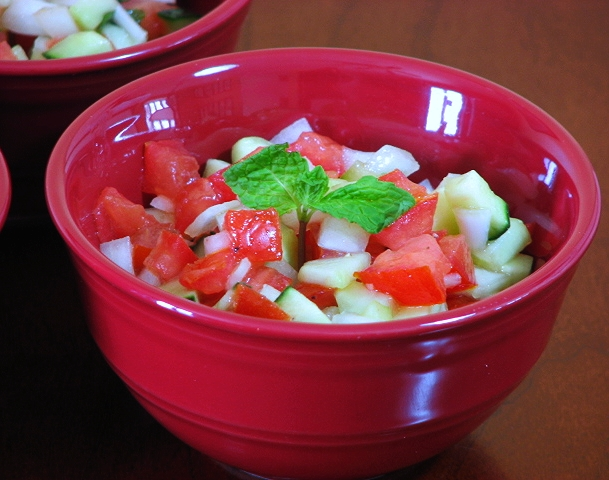 Salad-e Shirazi (Chilled Tomato and Cucumber Salad) Recipe