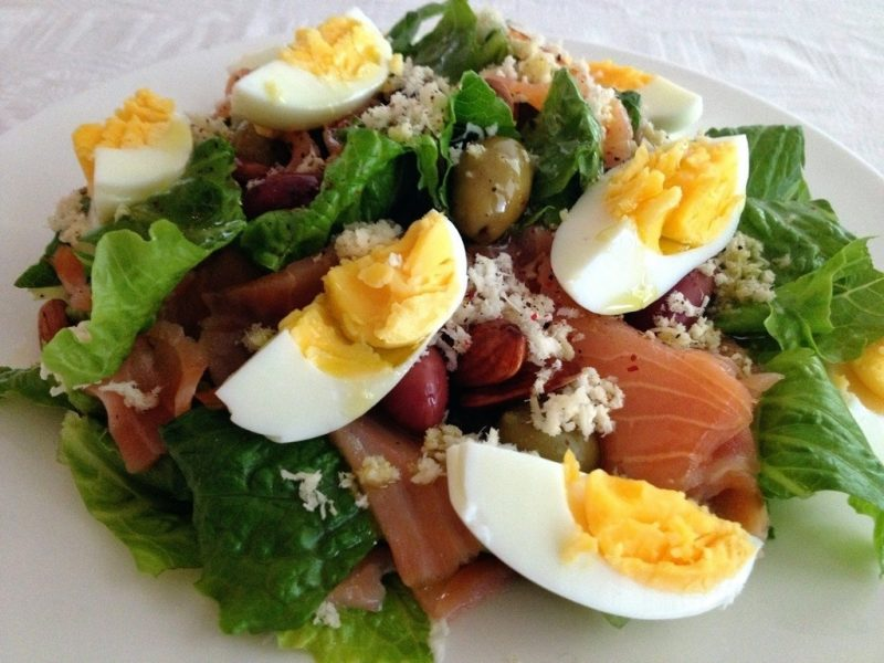Smoked Salmon Salad with Horseradish Recipe