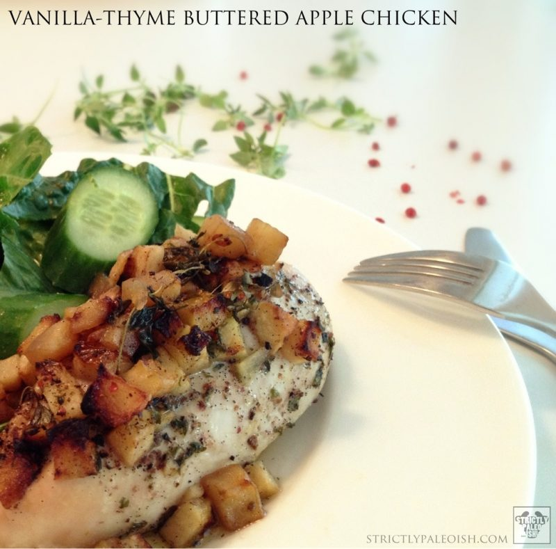 Vanilla-Thyme Buttered Apple Chicken - Primal Palate | Paleo Recipes