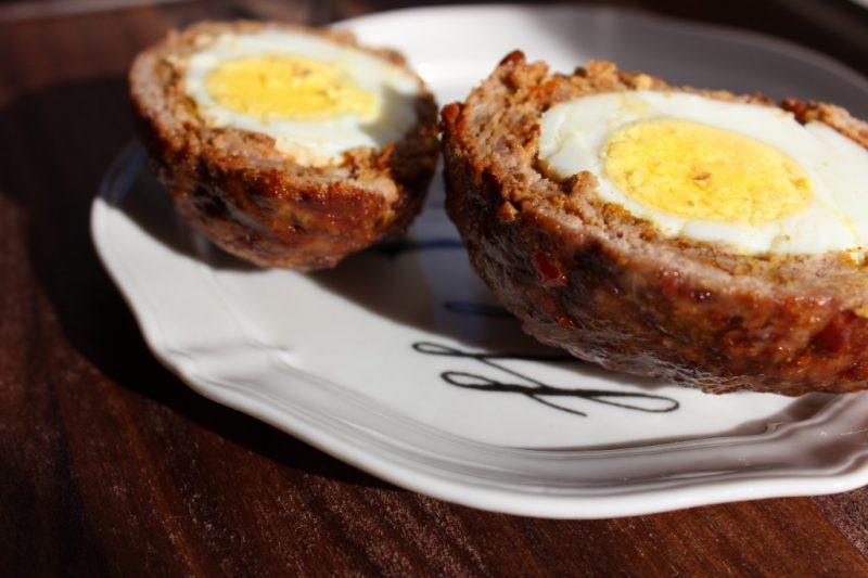 Merguez-Inspired Paleo Scotch Eggs. Recipe