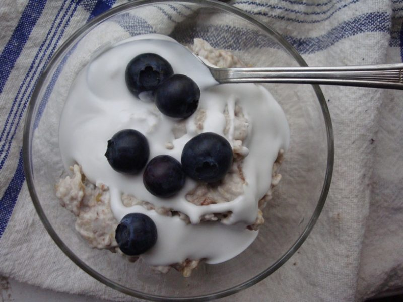 Blueberry, Peach and Coconut Mess Recipe