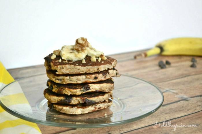 Paleo banana nut pancakes