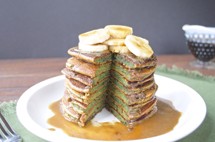 Paleo St. Patricks Day Green Pancakes