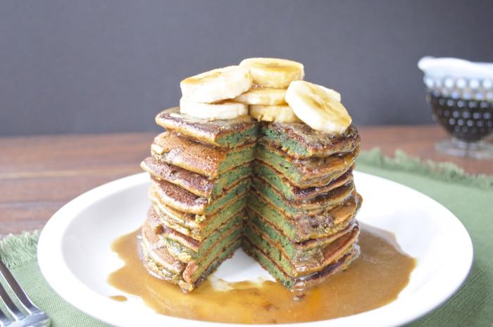 Paleo St. Patricks Day Green Pancakes