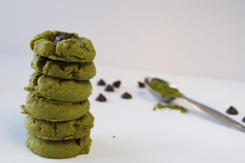 Matcha Thumbprint Cookies Recipe