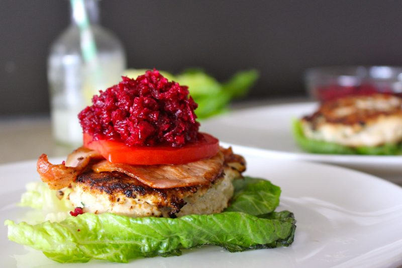Tasty Chicken & Bacon Burgers Recipe