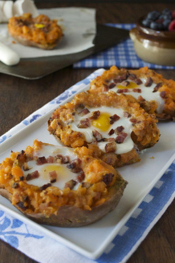 Twice Baked Breakfast Sweet Potatoes Recipe