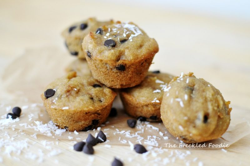 Coconut Chocolate Chip Mini Muffins Recipe