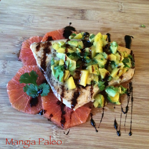 swordfish with mango avocado salsa