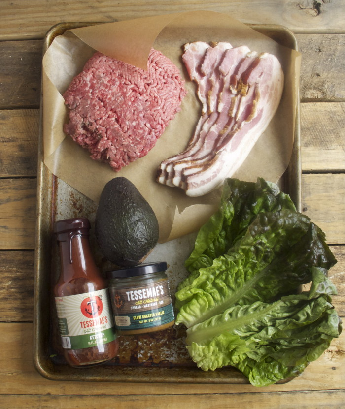 Garlicky Burger Ingredients