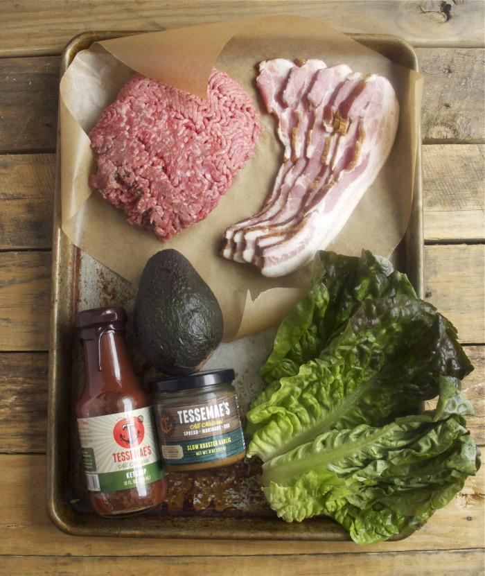 Garlicky Burger Ingredients