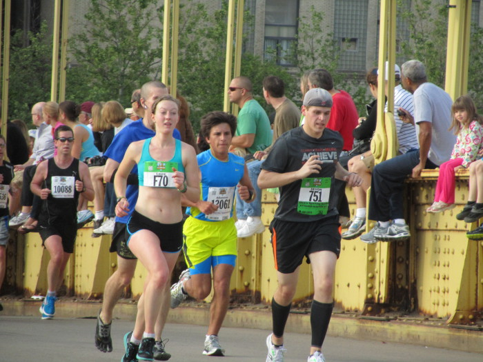 Laura in the '13 Pittsburgh Marathon