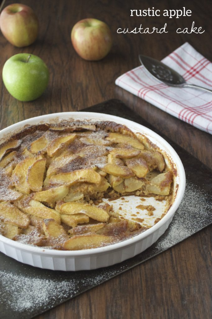 Apple Custard Cake Recipe