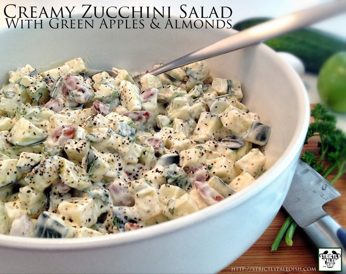 Creamy Zucchini Salad With Green Apples And Almonds Recipe