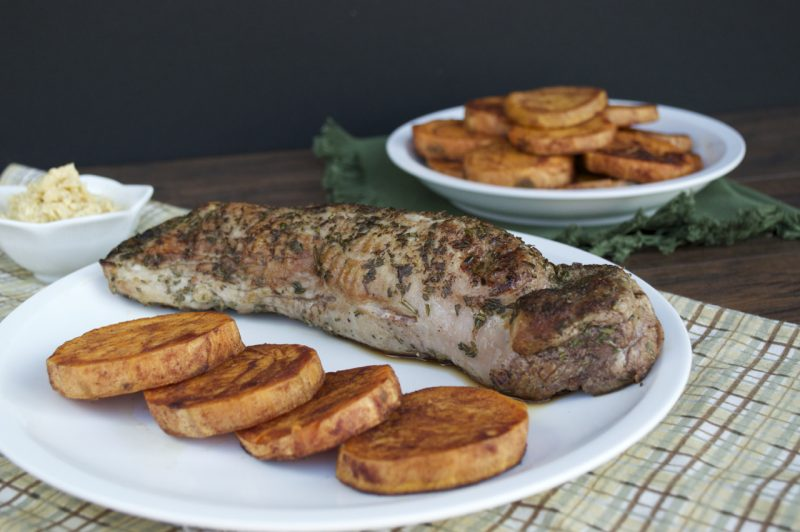 Herb Pork Tenderloin with Maple Butter Recipe