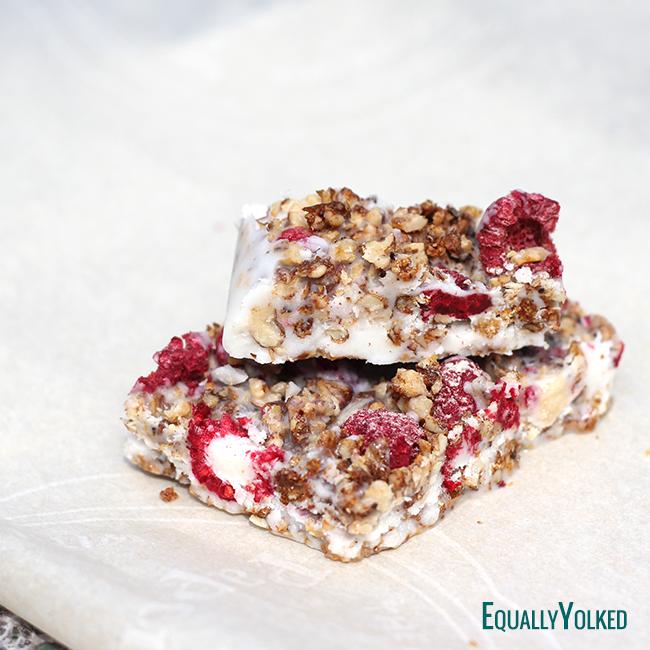 Coconut Raspberry Energy Bars Recipe