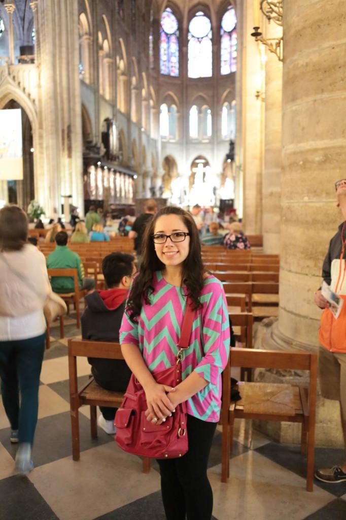 Hayley in Notre Dame