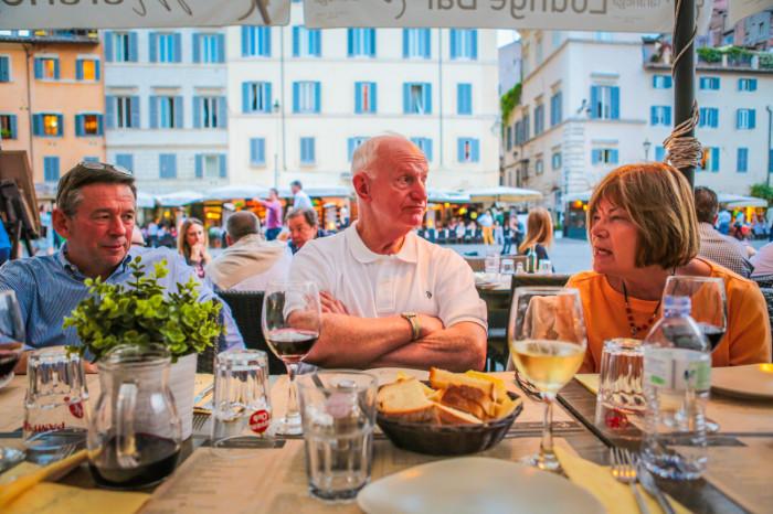 Dinner in Campo Dei Fiori