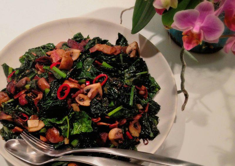 Fried Black Kale Recipe
