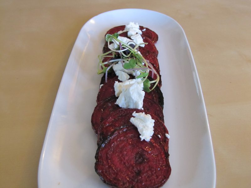 Lemon Marinated Beets with Goat Cheese Recipe