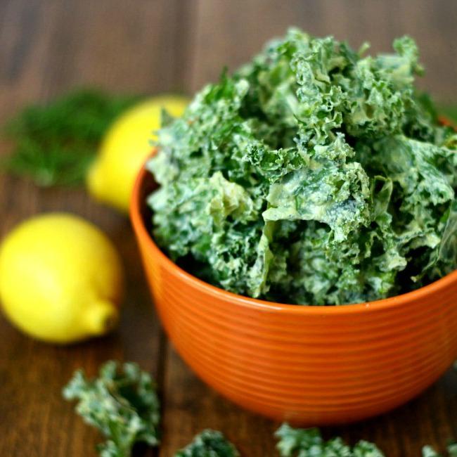 Lemon Dill Kale Chips Recipe
