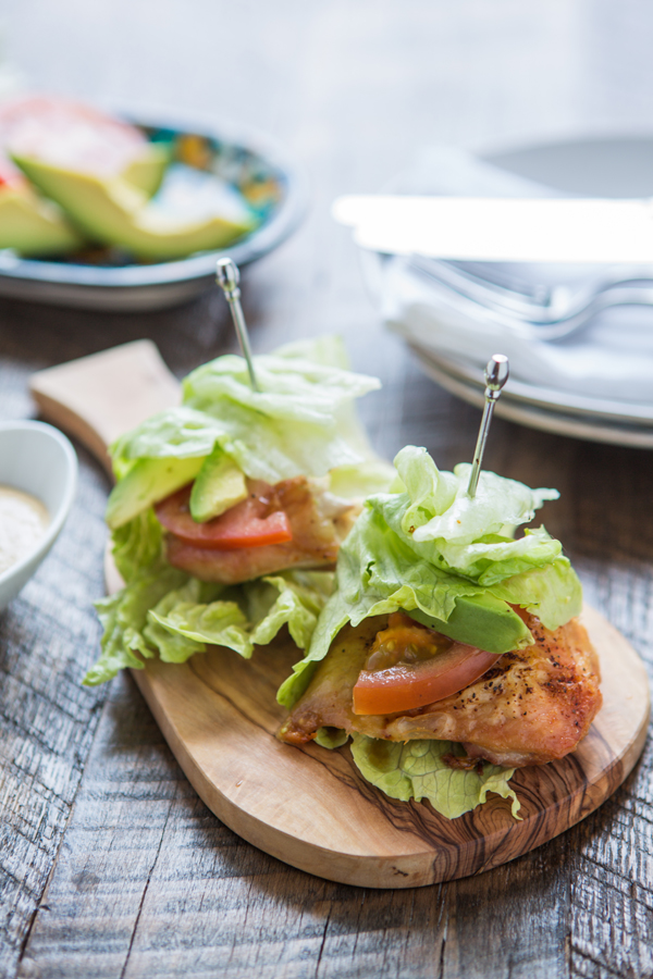 Paleo Baked Chicken Wraps