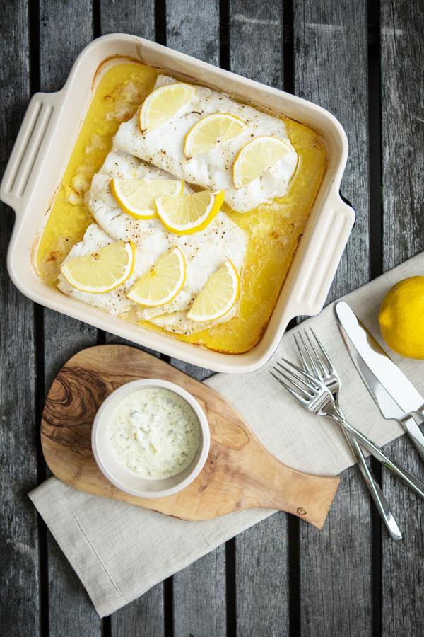 Paleo Baked Cod with Lemon