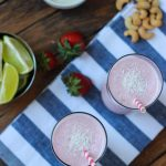 Strawberry Coconut Lime Smoothie