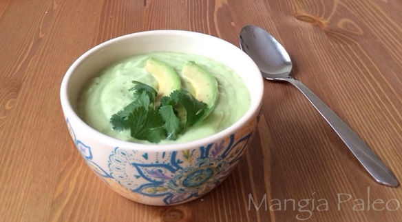 Chilled Cucumber Avocado Soup Recipe