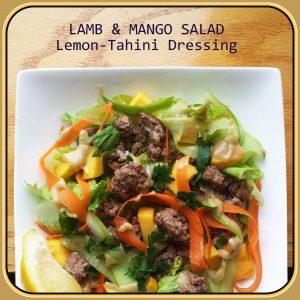 Lamb & Mango Salad with Lemon-Tahini Dressing - Primal ...