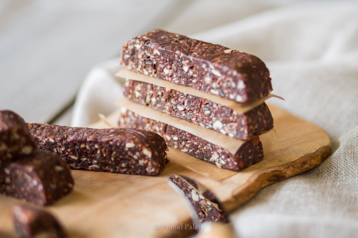 paleo chocolate choc chip fruit and nut bars-3