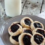 Paleo Blueberry Thumbprint Cookies