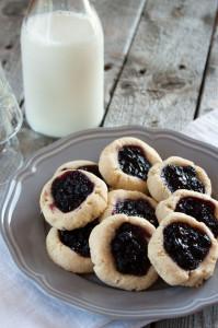 Paleo Blueberry Thumbprint Cookies
