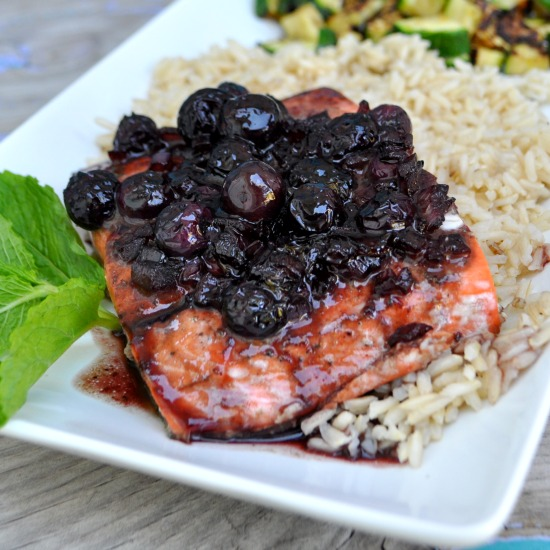 Blueberry Mint Balsamic Salmon