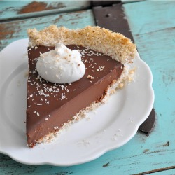 Chocolate Coconut Truffle Pie Recipe