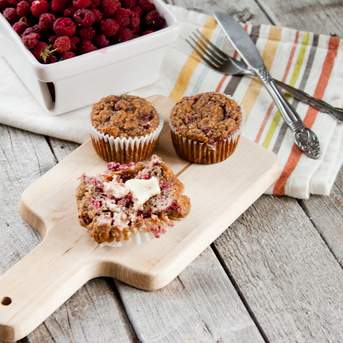 Paleo Raspberry Muffin