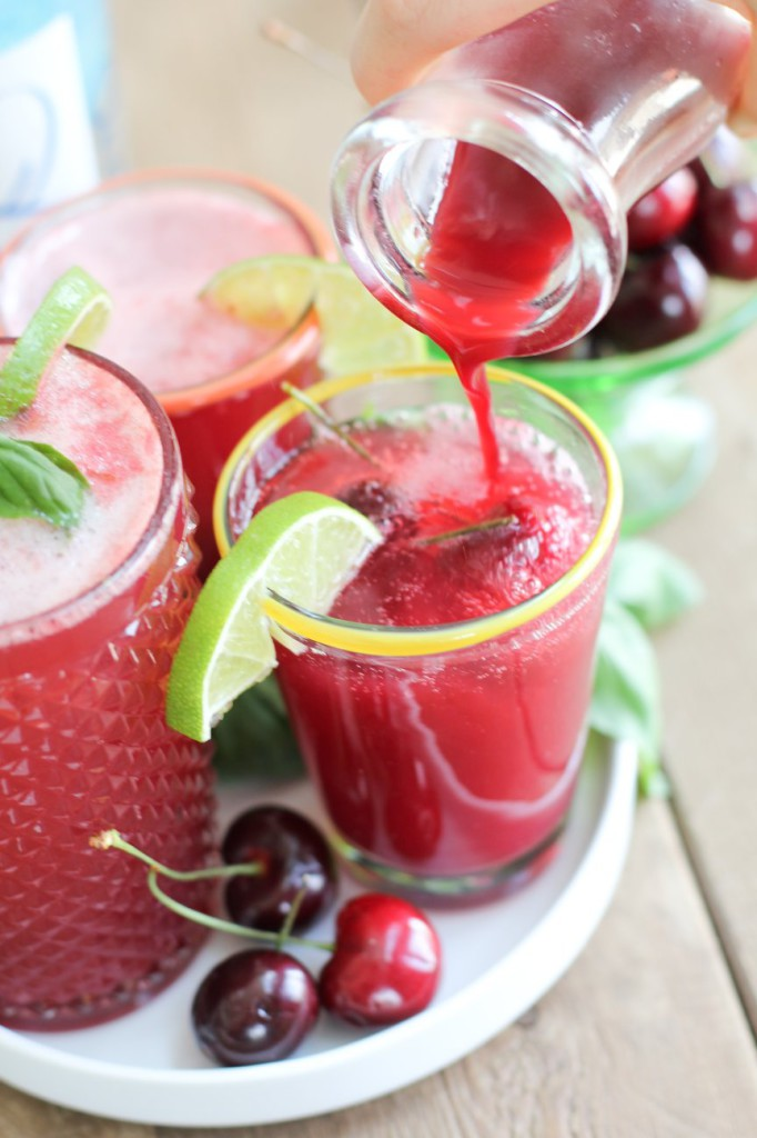 Basil Infused Cherry Limeade