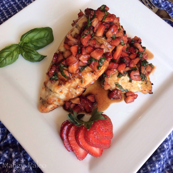 Strawberry Basil Grilled Chicken Recipe