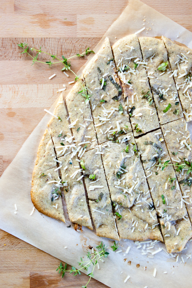 Grain Free Garlic Herb Flatbread Recipe
