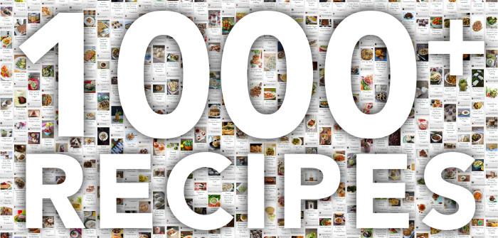 1000 Recipes celebration