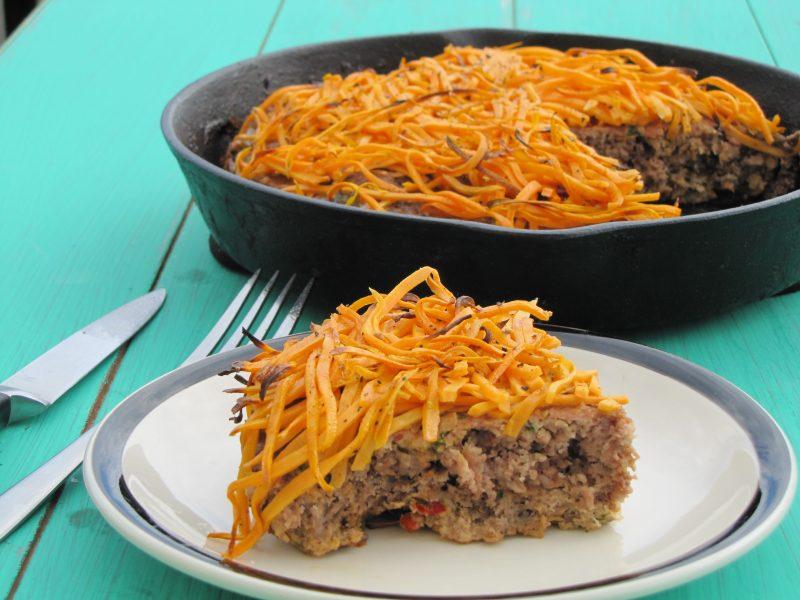 Pork and Beef Skillet Meatloaf Recipe