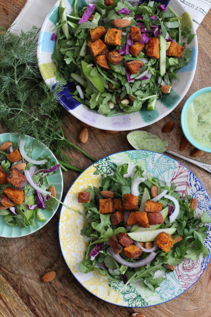 Creamy Kale and Arugula Salad 1