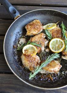 Lemon Rosemary Chicken Thighs