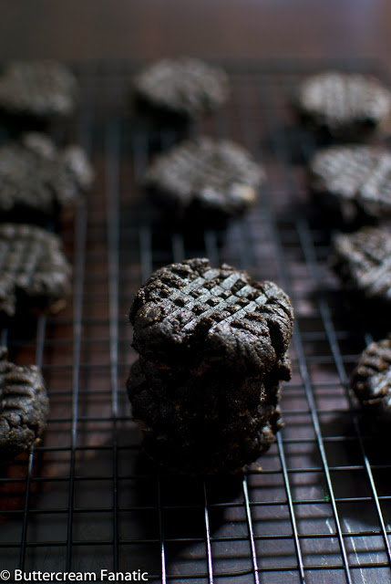 Midnight Chocolate Almond Butter Cookies