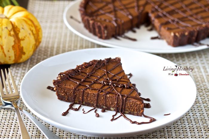 No Bake Triple-Chocolate Pumpkin Pie