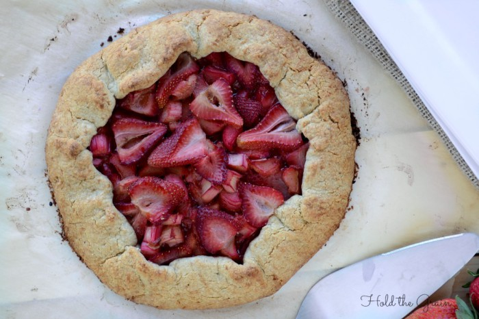 Strawberry-Rhubarb tart hold the grain