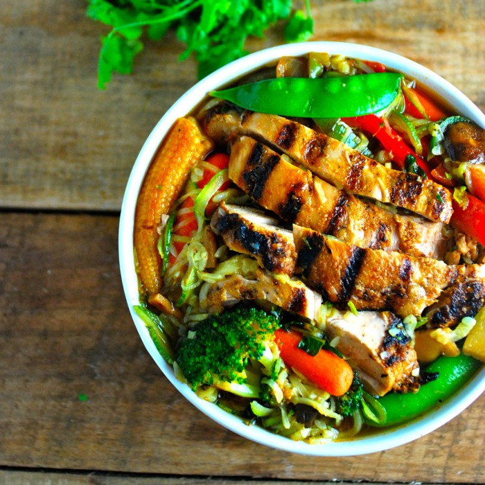Chicken with Zucchini Ramen Noodles